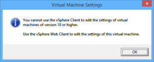 editing the vm