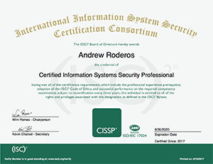 Passed the CISSP exam! | NetworkJutsu | Network Consulting